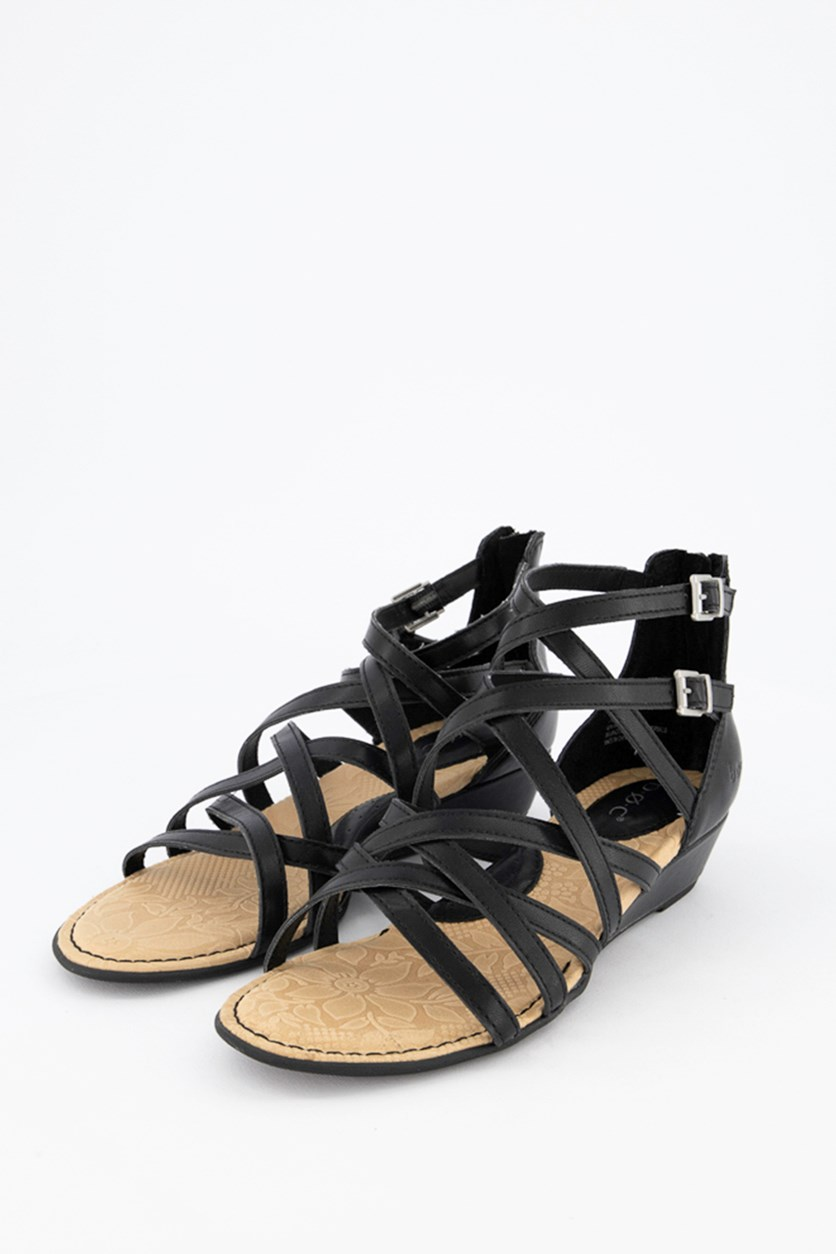 Women's Mimi Wedge Sandals, Black