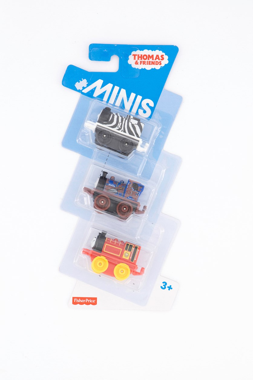 Thomas & Friends Minis Train Engines 3 Pack, Black/Brown/Red