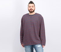 Men's Stripe French Terry T-Shirt, Navy