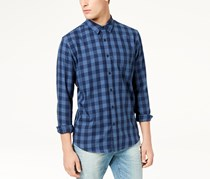 American Rag Men's Banarama Button Up Shirt, Blue