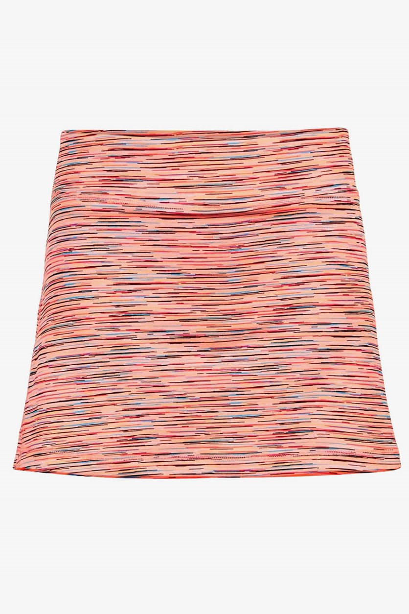 Kids Girls' Space-Dye Skort, Peach Spacedye