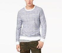 American Rag Men's Layered Striped Shirt, White/Navy