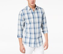 Style & co. Men's Geo-Print Button-Front Shirt, Blue/White