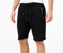 American Rag Men's Raw Edge Knit Shorts, Black