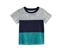 First Impressions Colorblocked Cotton T-Shirt, Bright White