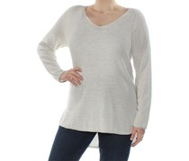 INC Women's Casual V-Neck Pullover Top, Buttercream