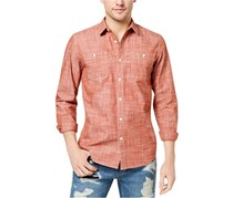 American Rag Men's Chambray Shirt, Firebrick