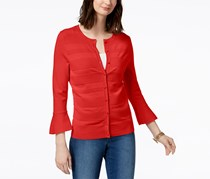 Charter Club Women's Bell-Sleeve Cardigan, Warm Spice