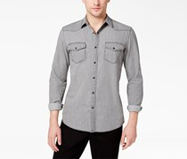American Rag Men's Denim Western Shirt, Grey