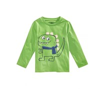 First Impressions Baby Boys Dino-Print Graphic Cotton T-Shirt, Green