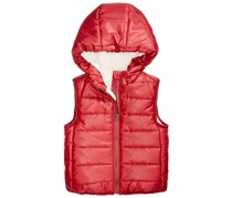 First Impressions Boys Reversible Hooded Puffer Vest, Maroon