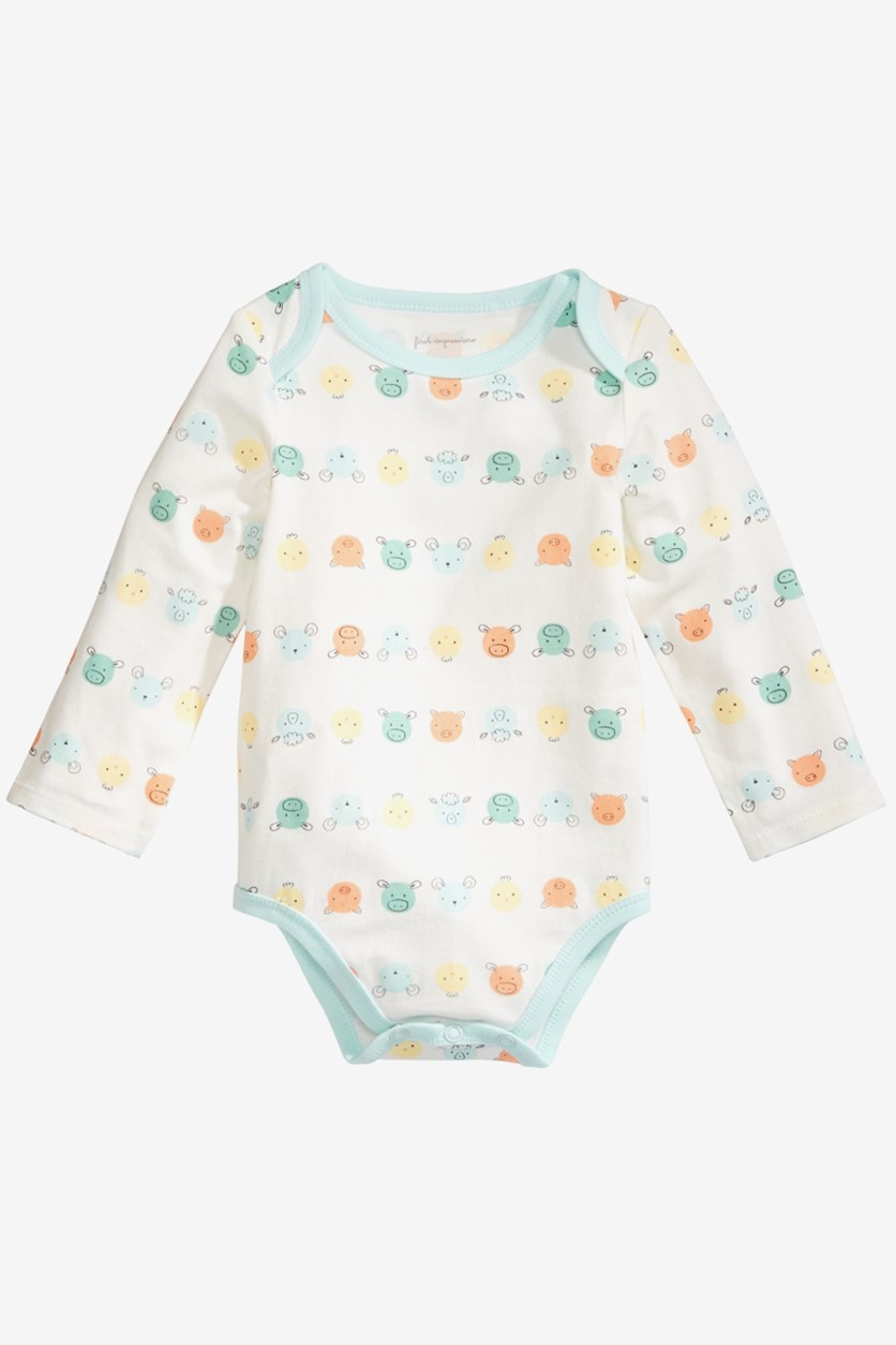 Baby Girl's Printed Bodysuit, Lily White