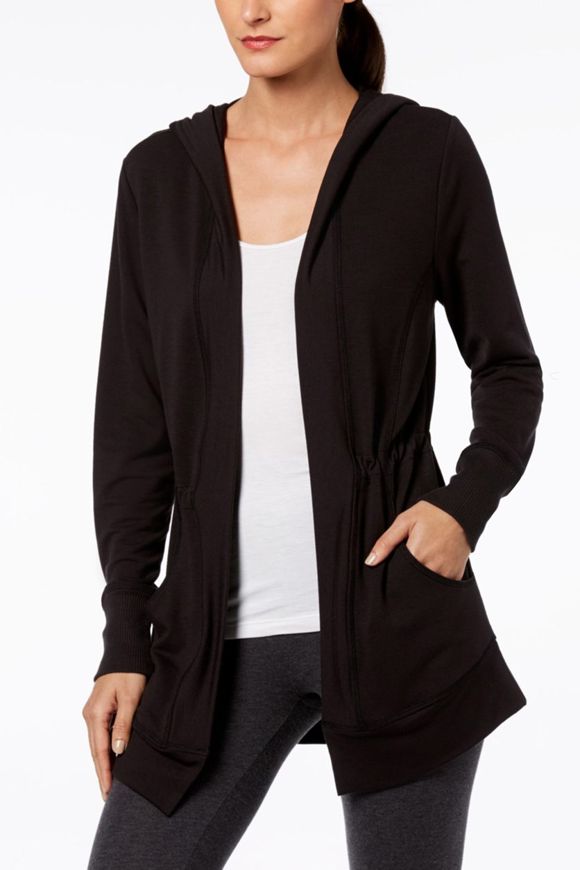 Women's Hooded Wrap, Black