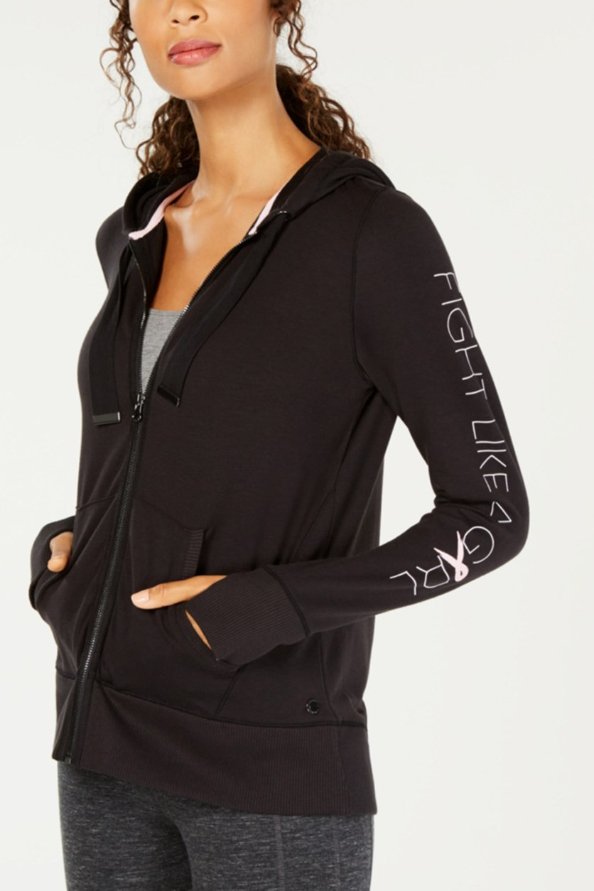 Breast Cancer Research Foundation Zip Hoodie, Black
