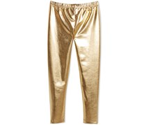 Epic Threads Big Girls Faux Leather Leggings, Gold