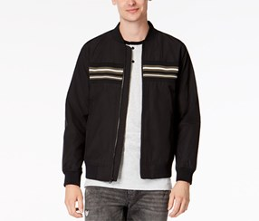 American Rag Cie Men's Fall Lightweight Varsity Jacket, Black