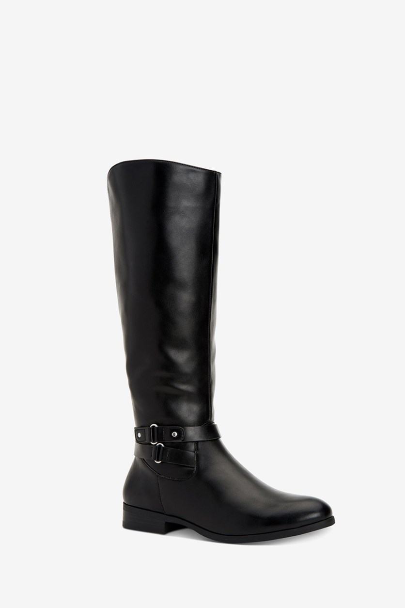 Women's Kindell Wide-Calf Tall Boots, Black