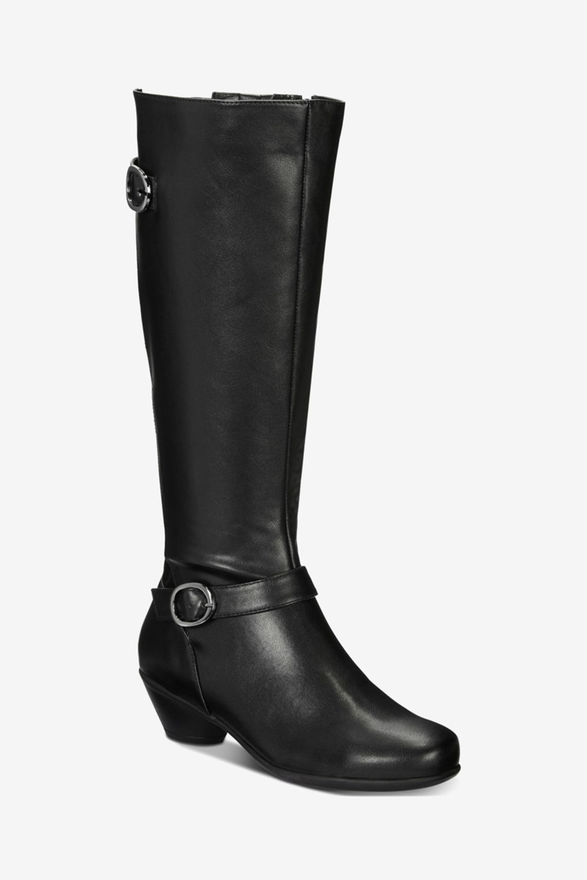 Women's Ulee Closed Toe Knee High Fashion Boots, Black
