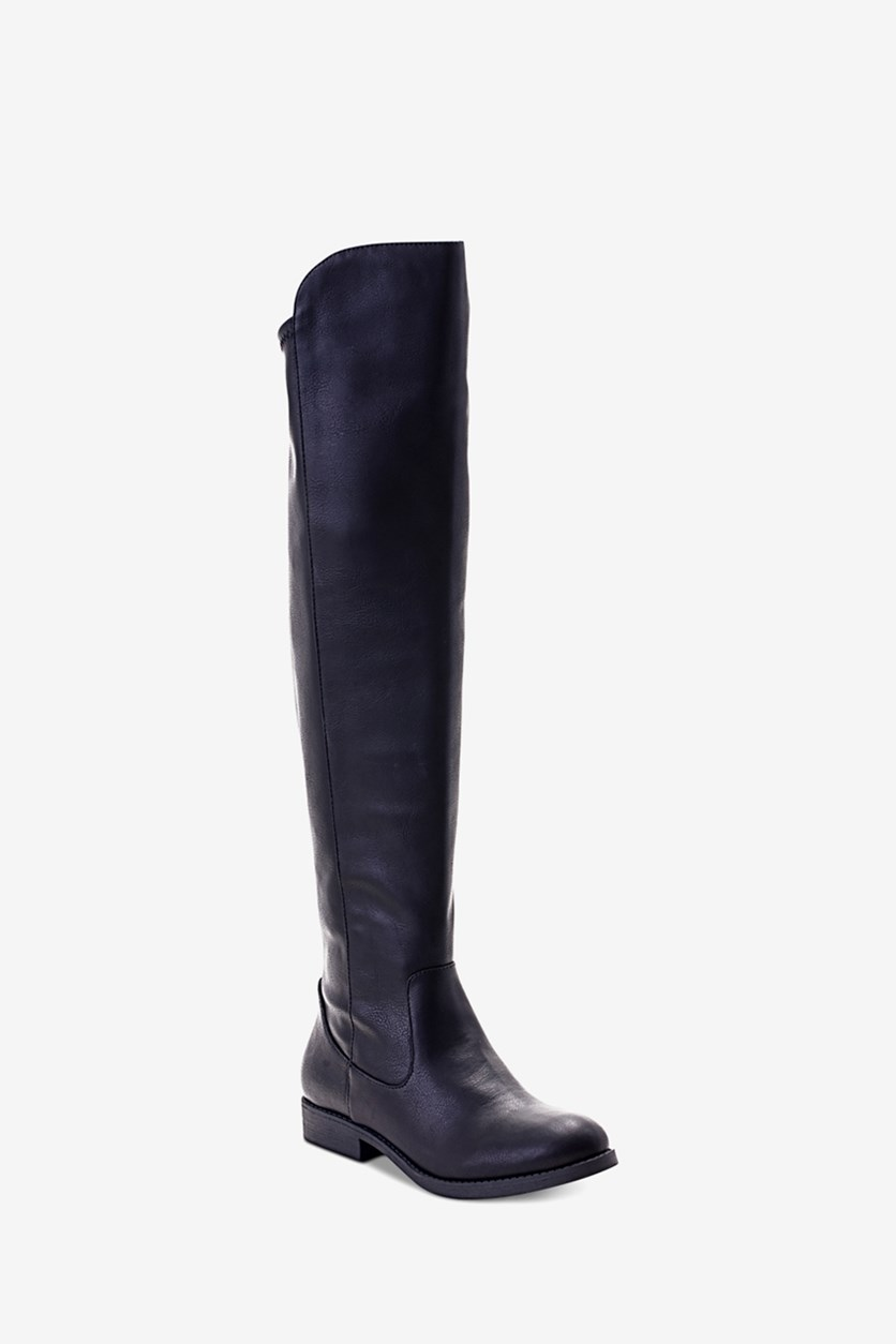 Women's Hayley Over-The-Knee Zip Boots, Black