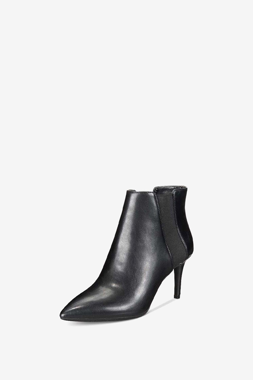Womens Irsia Pointed Toe Ankle Chelsea Boots, Black