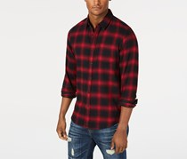 American Rag Men's Wes Plaid Shirt, Maroon