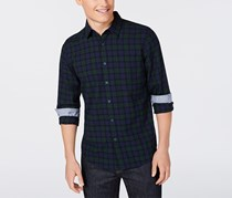 American Rag Men's Brooks Plaid Shirt, Green/Navy