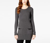 Bcx Women's Rib-Knit Sweater Dress with Pockets, Grey