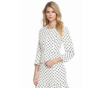 Nine West Polka Dot Print Jacket, White/Black
