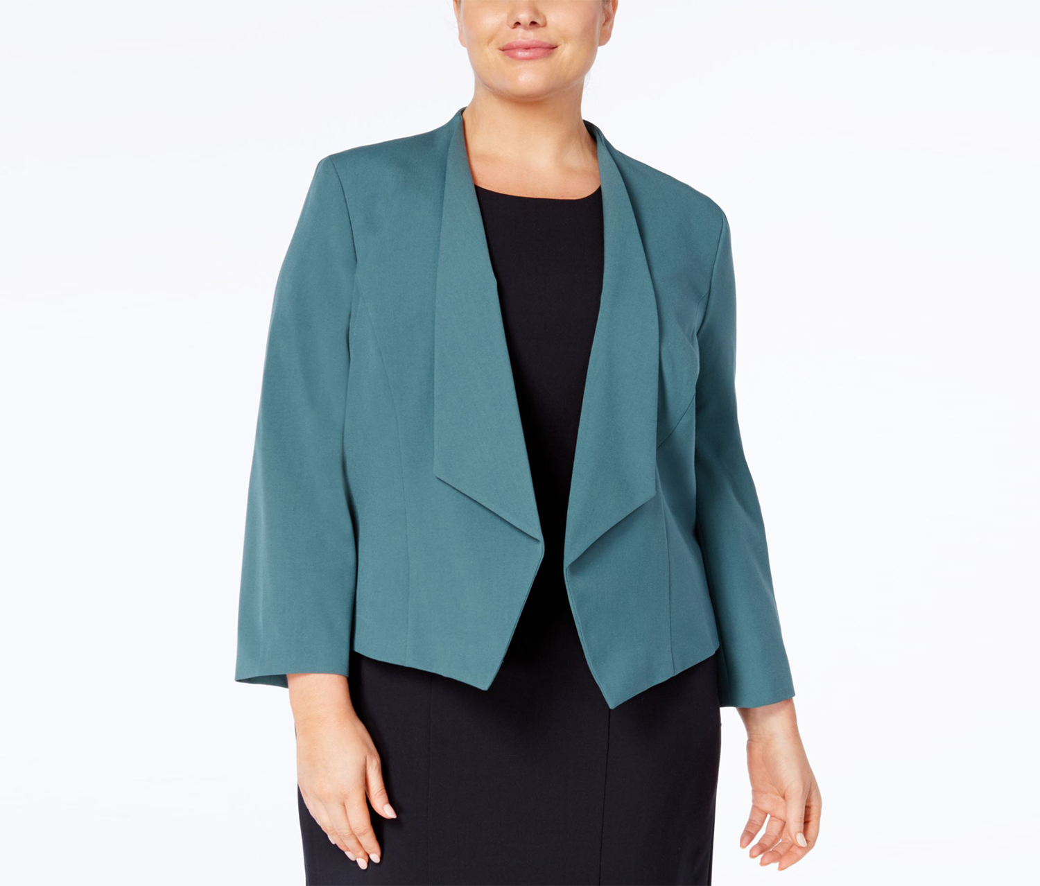 Nine West Women's Open-front Blazer, Patina