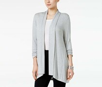 Style & Co Women's Petite Open-Front Cardigan, Heather Grey