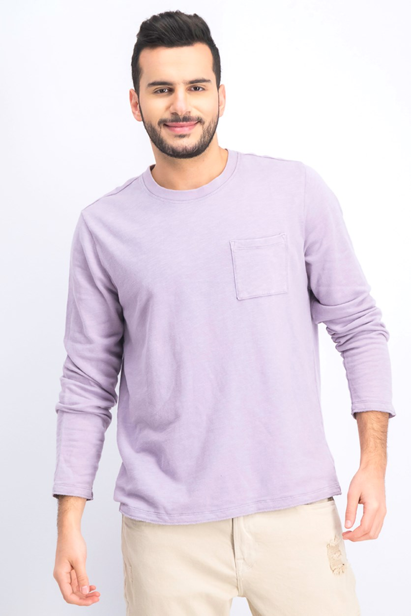 Men's Chest Pocket Sweatshirt, Lilac