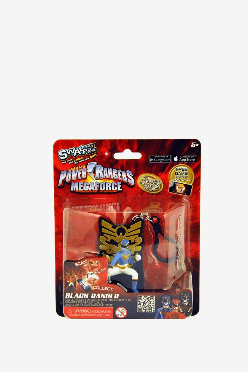 Power Rangers Mega Force Backpack Clip Keychain, Blue