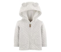 Carter's Baby Girls Hooded Quilted Jacket, White