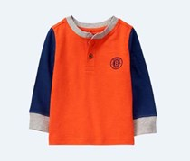 Crazy 8 Baby Boy's Top, Orange/Navy
