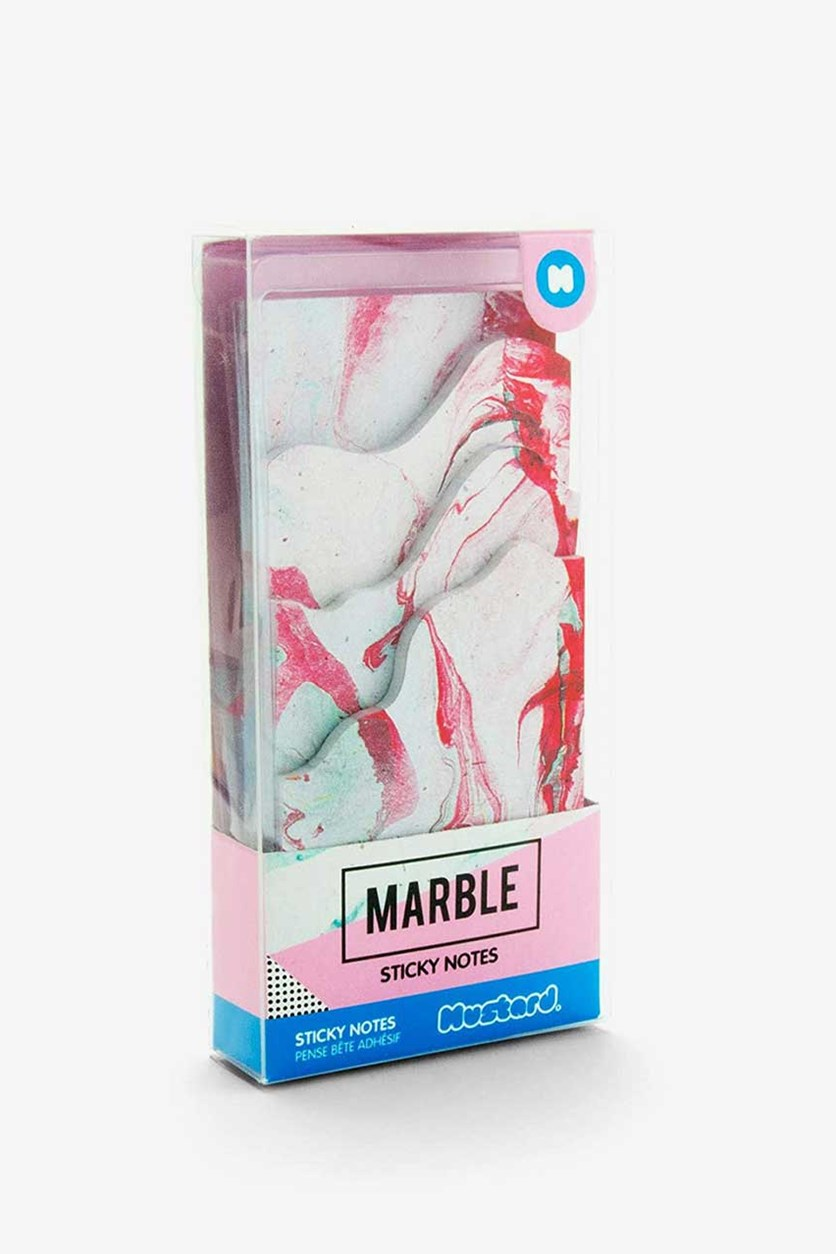 Marble Sticky Notes, Pink