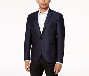 Kenneth Cole Reaction Men's Slim-Fit Navy Shine Dinner Jacket, Navy