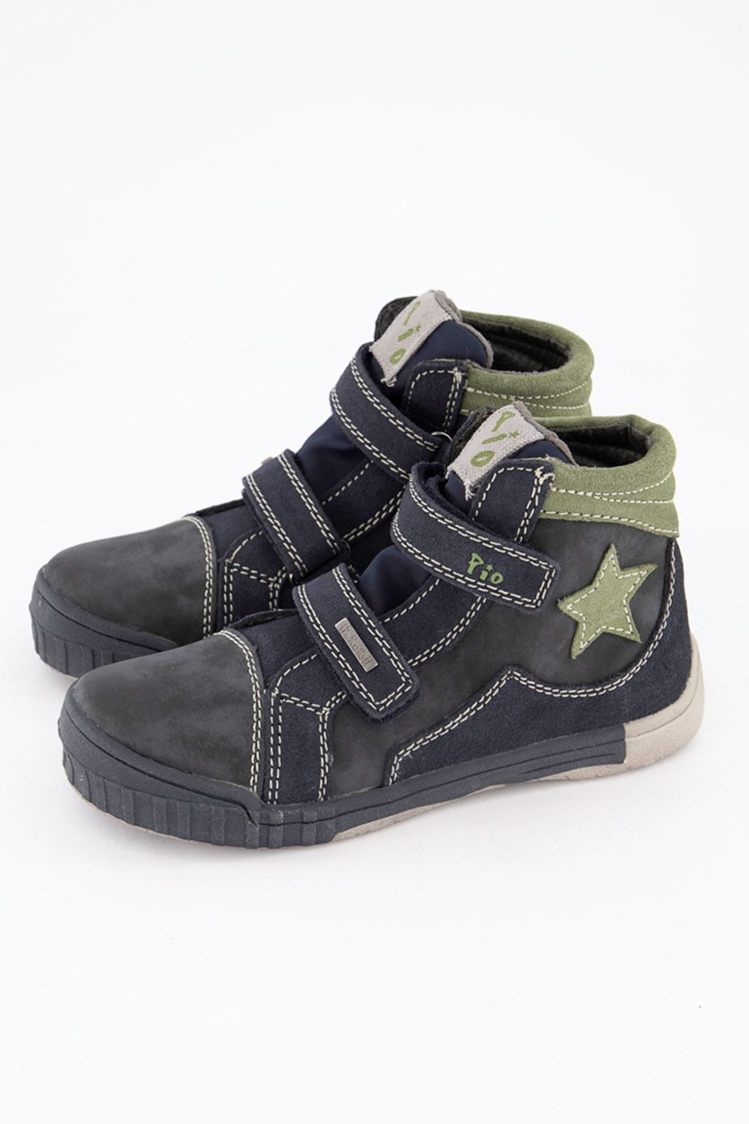 Kids Boys Dunkelblau Sneakers Shoes, Ocean Leaf