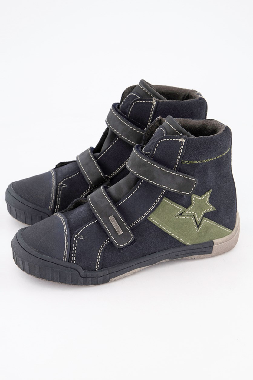Kids Boys Velcro Shoes, Blue Gray