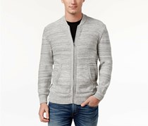 American Rag Cie Men's Full-Zip Mock-Collar Sweater, Fresh Mist