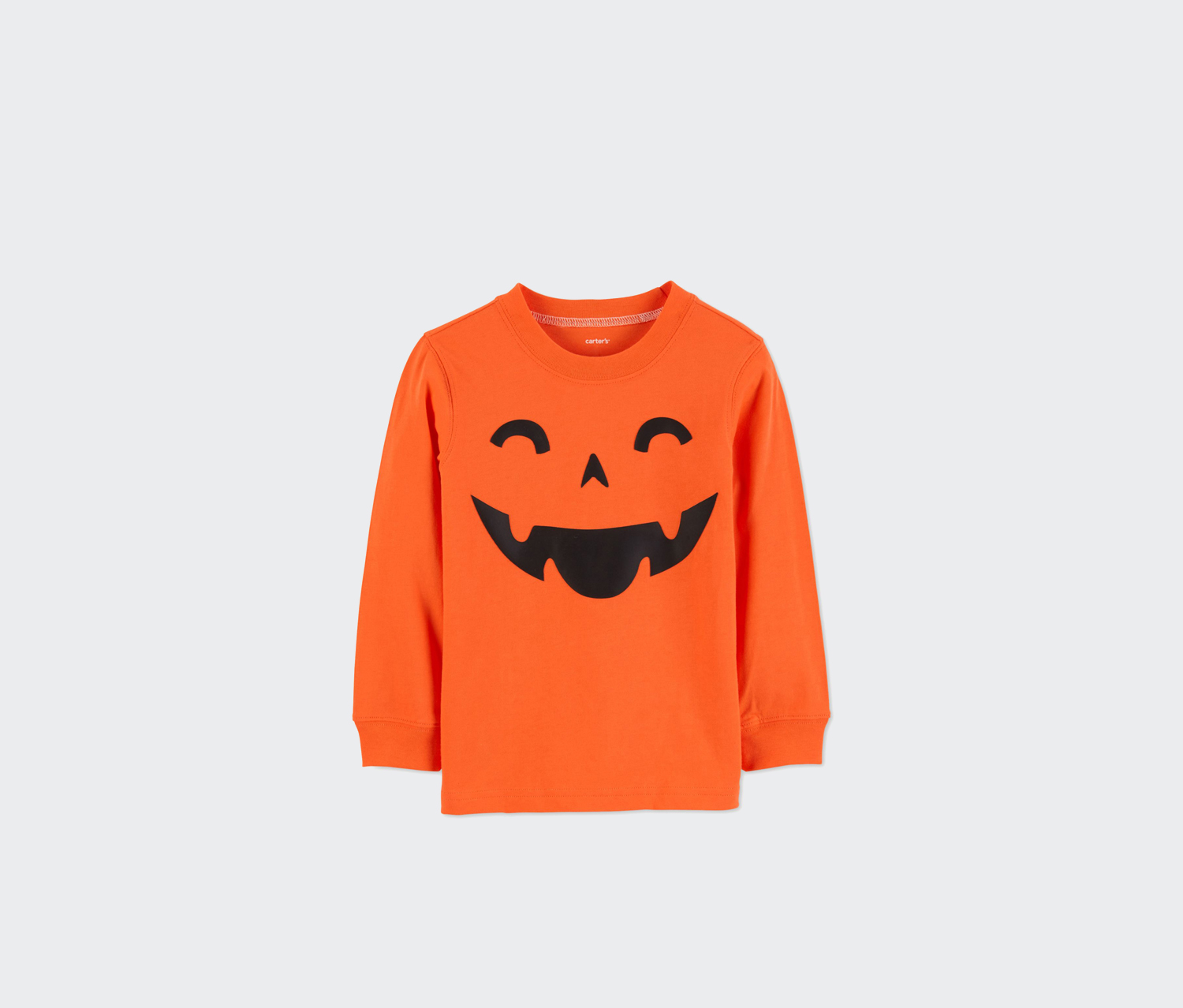 Little Boys Pumpkin Cotton Shirt, Orange