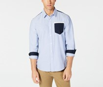 American Rag Cie Men's Philbin Colorblocked Shirt, Blue