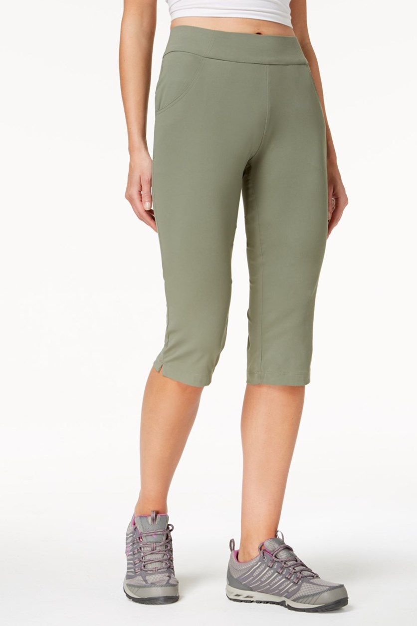 Women's Anytime Casual Capri Pants, Medium Green
