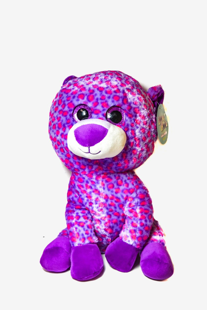 Looky Boo's Bright Eye Leopard Plush, Pink Combo