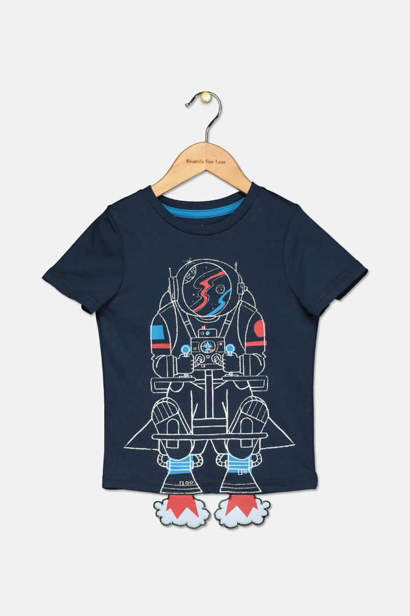 Toddler Boys Jet Pack Graphic T-Shirt, Blue