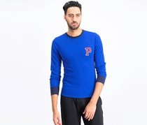 Men's Waffle-Knit Thermal, Blie