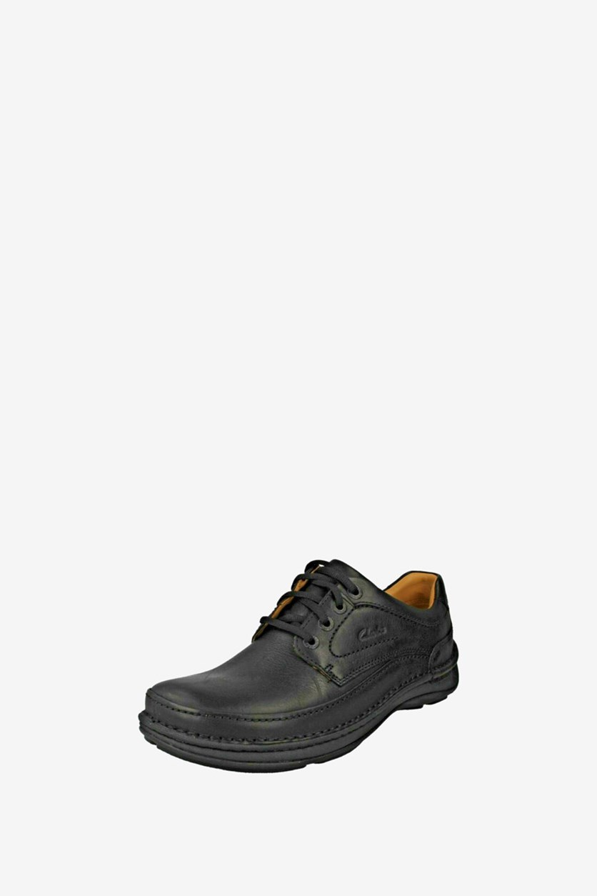 Mens Nature Three Shoes, Black Leather