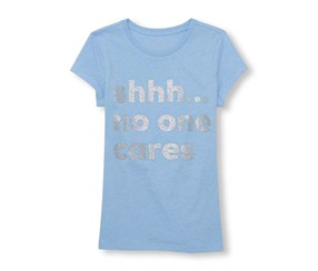 The Children Place Girl's Graphic Top, blue