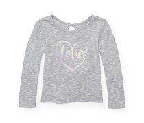 The Children's Place Baby Girls Long Sleeve Key Hole Top, Grey