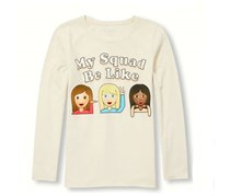 The Children's Place Girl's Graphic T-Shirt, Pearly White