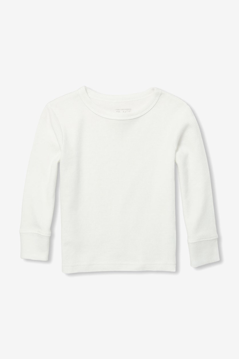 Toddler Boys' Solid Sweatshirt, Simply White
